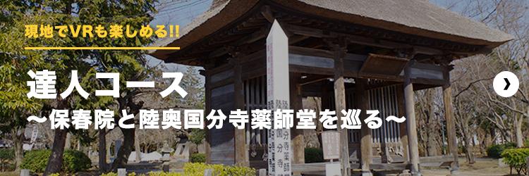 伊達な歴史の新体験|達人コース~保春院と陸奥国分寺薬師堂を巡る~