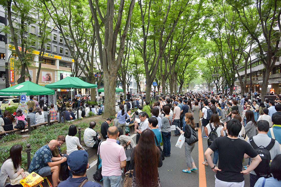 定禅寺ストリートジャズフェスティバル in 仙台の様子