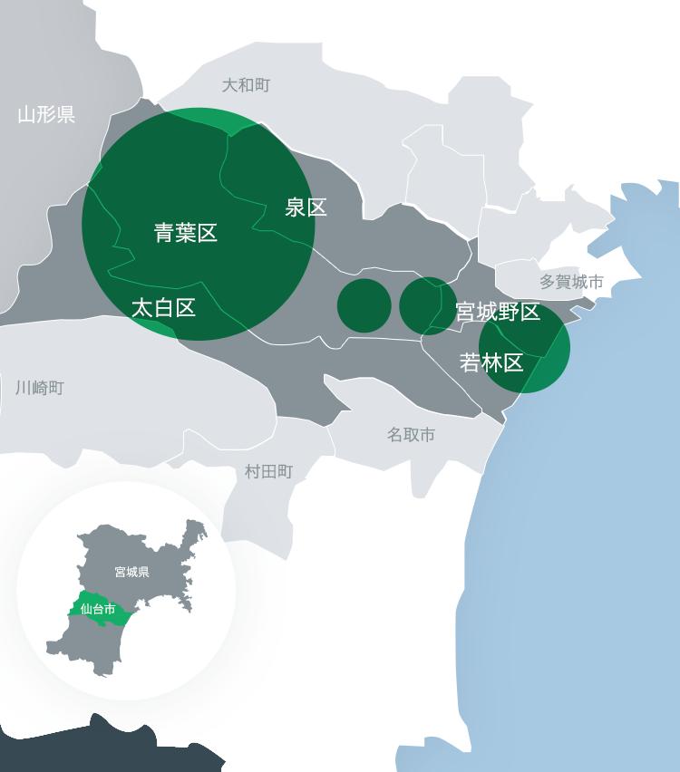 仙台エリアの地