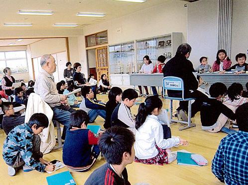 泉区歴史民俗ガイドボランティア「七北田探検団」の様子