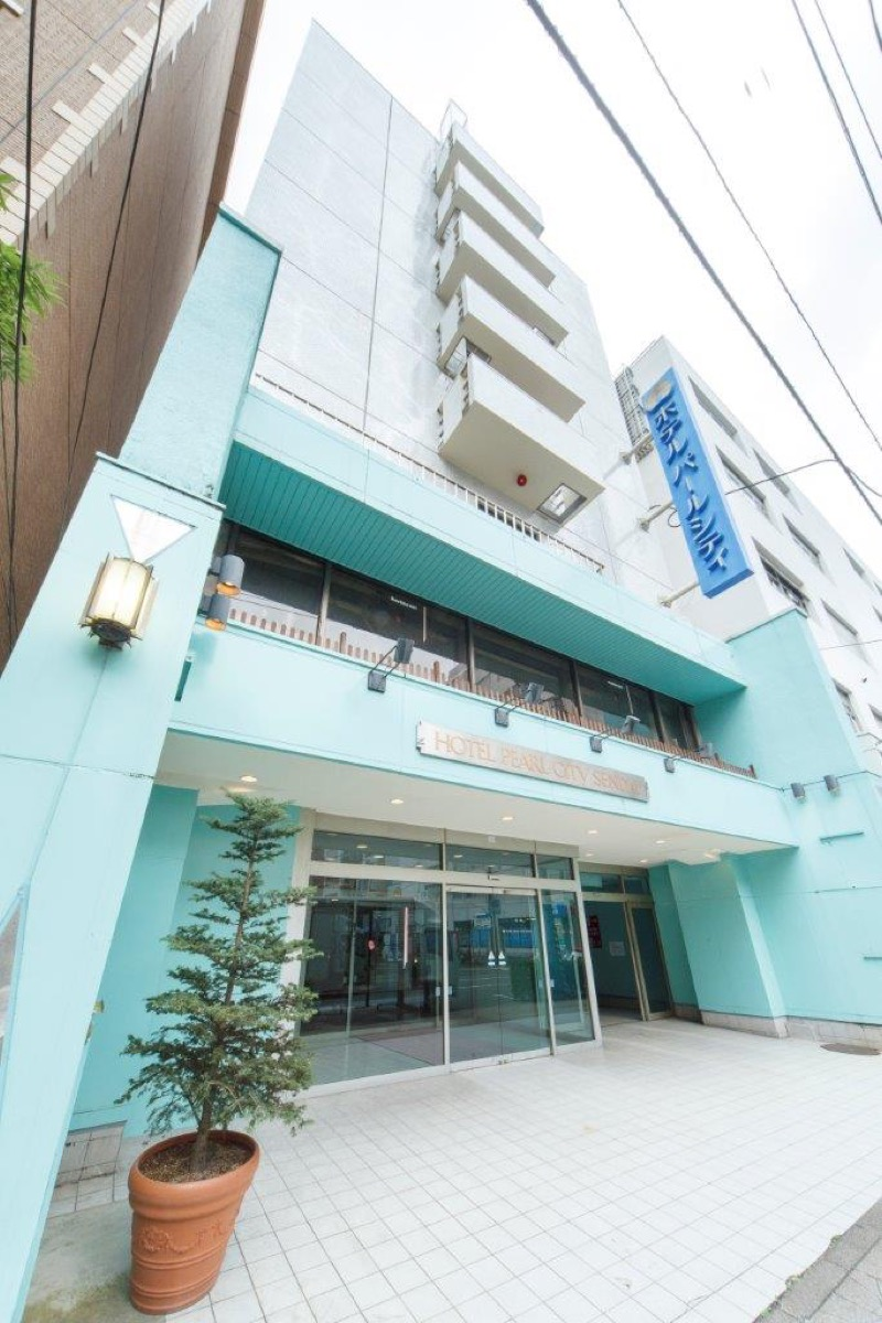 ホテルパールシティ仙台ホテル玄関