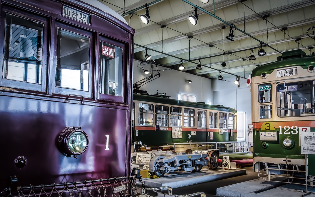 観光スポット:仙台市電保存館