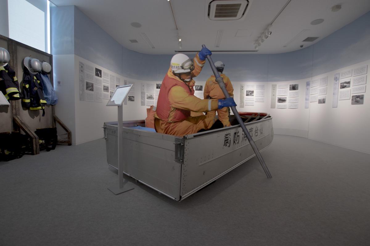 企画展「結~消防・命のプロが見た東日本大震災」(撮影:さとうたいち)の様子