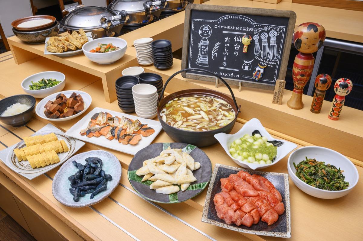リッチモンドホテル仙台朝食の和洋ビュッフェ