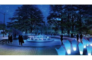 イベント:Blue Light Flower Garden